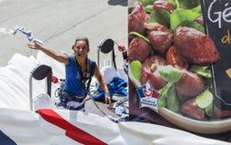 Dettaglio del caravan di pubblicità - Tour de France 2015 Fotografie Stock Libere da Diritti