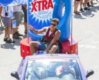 Dettaglio del caravan di pubblicità - Tour de France 2015 Immagini Stock