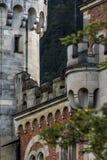 Dettaglio del castello del Neuschwanstein Fotografie Stock Libere da Diritti