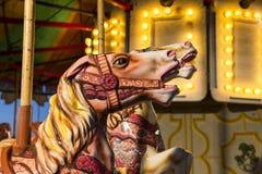 Dettaglio del cavallo del carosello Fotografia Stock Libera da Diritti