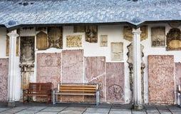 Dettaglio del cortile della cattedrale di Santo Stefano famoso in Passa Fotografia Stock
