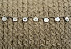Dettaglio del cuscino della lana Immagini Stock Libere da Diritti