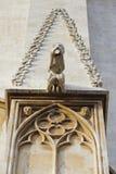 Dettaglio del doccione sul tempio a Tarragona Fotografia Stock Libera da Diritti