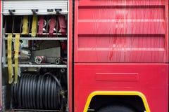 Dettaglio del firetruck Fotografia Stock Libera da Diritti