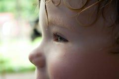 Dettaglio del fronte del bambino Fotografia Stock Libera da Diritti