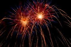 Dettaglio del fuoco d'artificio Immagine Stock