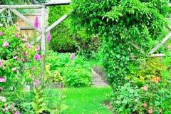 Dettaglio del giardino del cottage Immagini Stock Libere da Diritti