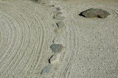 Dettaglio del giardino di rocce giapponese Immagine Stock