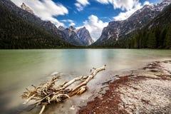 Dettaglio del lago di dobbiaco Fotografia Stock