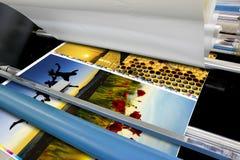 Dettaglio del laminatore della stagnola del rotolo della macchina da stampa offset Fotografie Stock Libere da Diritti