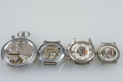 Dettaglio del macchinario dell'orologio macro Fotografia Stock Libera da Diritti