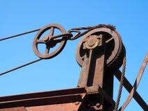 Dettaglio del meccanismo di chiusura di vecchia diga fotografia stock libera da diritti