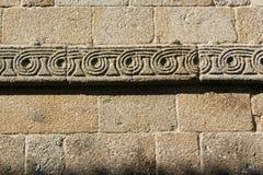 Dettaglio del monastero romanico di Paco de Sousa in Penafiel Fotografia Stock Libera da Diritti