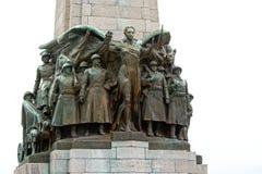 Dettaglio del monumento commemorativo della fanteria, Bruxelles, Belgio immagini stock libere da diritti
