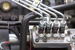 Dettaglio del motore diesel Fotografie Stock