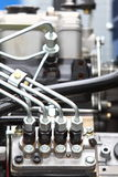 Dettaglio del motore diesel Fotografia Stock Libera da Diritti