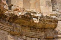 Dettaglio del Nymphaeum Jerash in Giordania fotografia stock libera da diritti