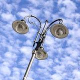 Dettaglio del palo della luce Fotografie Stock Libere da Diritti