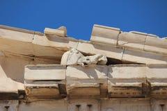 Dettaglio del Partenone del ` s di Athen Immagini Stock Libere da Diritti