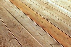 Dettaglio del patio di legno Immagini Stock Libere da Diritti