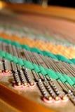 Dettaglio del pianoforte a coda Fotografia Stock