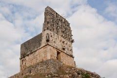 Dettaglio del piramid di maya in Yucatan Fotografia Stock Libera da Diritti