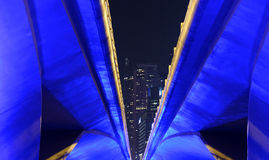 Dettaglio del ponte da Singapore Immagini Stock Libere da Diritti