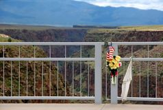 Dettaglio del ponte della gola di Rio Grande Fotografia Stock Libera da Diritti