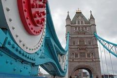 Dettaglio del ponte della torre Fotografia Stock