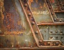 Dettaglio del ponte ferroviario Fotografia Stock Libera da Diritti