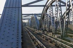 Dettaglio del ponte ferroviario di Barnes sopra il Tamigi, Londra, Regno Unito Fotografia Stock Libera da Diritti