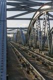 Dettaglio del ponte ferroviario di Barnes sopra il Tamigi, Londra, Regno Unito Immagine Stock