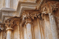 Dettaglio del portale medievale Fotografia Stock Libera da Diritti