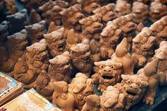 Dettaglio del primo piano dell'icona spirituale giapponese Fotografie Stock Libere da Diritti