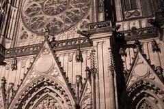 Dettaglio del punto di riferimento gotico Fotografie Stock Libere da Diritti
