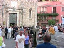 Dettaglio del quadrato della cattedrale di Taormina Fotografia Stock Libera da Diritti