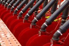 Dettaglio del rimorchio dell'erpice di disco per un trattore agricolo Fotografie Stock Libere da Diritti