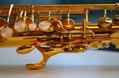 Dettaglio del sassofono Immagine Stock