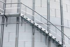 Dettaglio del silo di grano di stoccaggio Immagini Stock Libere da Diritti