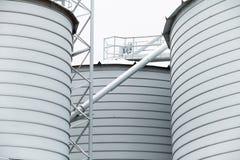 Dettaglio del silo di grano di stoccaggio Fotografie Stock