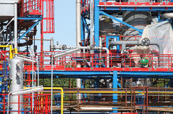 Dettaglio del sito dell'impianto industriale immagini stock libere da diritti