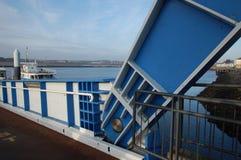 Dettaglio del sud del ponte di traghetto degli schermi Immagini Stock
