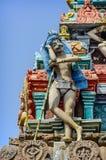 Dettaglio del tempio di Kapaleeswarar dell'indiano Fotografia Stock Libera da Diritti
