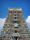 Dettaglio del tempio di Kapaleeswarar dell'indiano Fotografia Stock