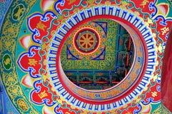Dettaglio del tetto del tempio cinese Immagine Stock Libera da Diritti