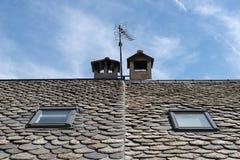 Dettaglio del tetto di ardesia Immagini Stock