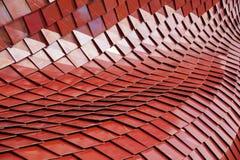 Dettaglio del tetto di piastrelle di ceramica moderno rosso immagine