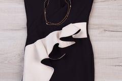 Dettaglio del vestito da sera elegante Fotografia Stock