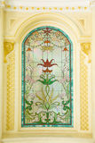 Dettaglio del vetro macchiato - immagine di riserva fotografia stock