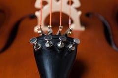 Dettaglio del violoncello Fotografie Stock